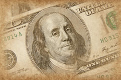 US dollar in grunge style Royalty Free Stock Photos