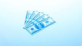 US-Dollar Hundert Banknoten auf weißem Hintergrund buckes Lizenzfreies Stockfoto