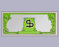 US Dollar illustration in flat colours. With dollar symbols. Transparent file is also available in Png format vector illustration