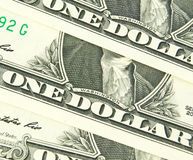 Us dollar in macro shot Royalty Free Stock Photo