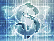 US Dollar map stock illustration
