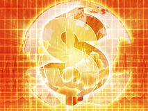 US Dollar map Stock Photo