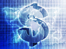 US Dollar map Stock Images