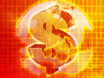 US Dollar map Stock Image