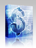 US Dollar map box package Stock Photography