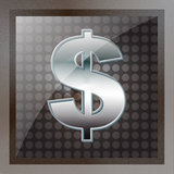 US Dollar Metal Sign Stock Images