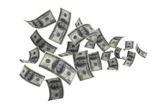 100 US Dollar. Money Fall Royalty Free Stock Image