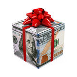 US Dollar Money Gift Box Stock Photo