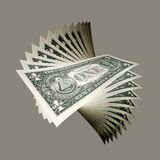 US Dollar notes, close-up Royalty Free Stock Photography