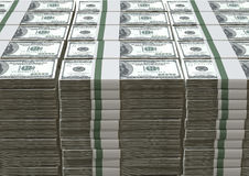 US Dollar Notes Pile Royalty Free Stock Photography