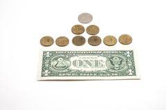 US dollar och ryssrubel Arkivbilder