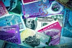 Us-dollar i global ekonomi Arkivfoton