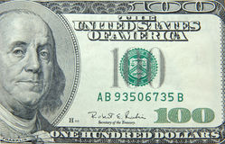 US dollar one hundred bill Royalty Free Stock Image