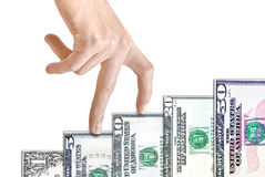 US Dollar Paper Bill Growth Graph Royalty Free Stock Photography