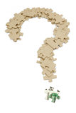 Us dollar and  question mark Stock Photography