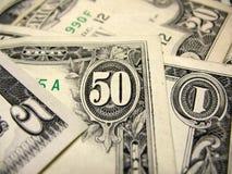 US dollar räkningar Royaltyfria Bilder