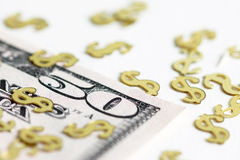 US-Dollar Rechnung mit Sternenbanner Lizenzfreie Stockfotos