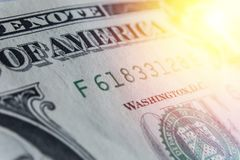 US-Dollar Rechnung, Supermakro, Abschluss herauf Foto Details von Rechnungen Stockfotos