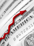 US dollar recovery Royalty Free Stock Photo