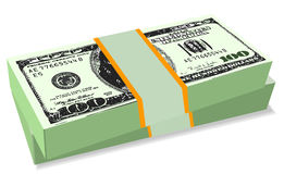 Us dollar roll Royalty Free Stock Photo