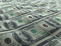 US Dollar sea surface Stock Image