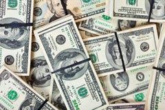 US dollar sedlar Arkivbild