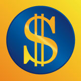 US dollar sign. Vector icon Royalty Free Stock Images