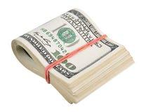 US dollar som isoleras på en vit Arkivfoton