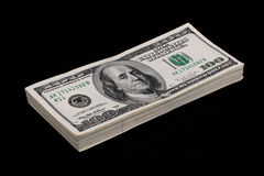 US dollar stack Stock Photo