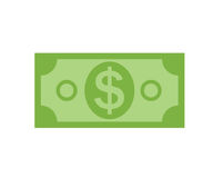 US Dollar Stack Paper Banknotes  Icon Sign Business Finance Money Stock Image