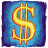 Us dollar symbol. Digital painting Stock Images