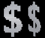 US dollar symbol assembled of diamonds Royalty Free Stock Photography