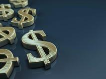 US-Dollar Symbol. 3D illustration with us dollar symbol on bluegrey background Royalty Free Stock Photography