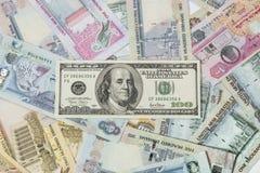 US dollar and UAE Dirhams Royalty Free Stock Photo