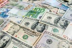 US Dollar versus Euro Royalty Free Stock Photos