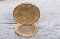 US dollar versus Euro concept Royalty Free Stock Photos