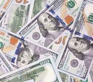 100 US-Dollar Zusammenfassungsgeld-Bargeldhintergrund Lizenzfreie Stockbilder