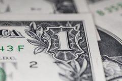 US dollarräkning, toppen makro, Royaltyfri Foto