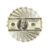 US Dollars. United States Dollars banknotes, isolated stock illustration