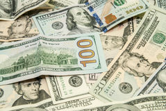 US Dollars as background Stock Images