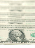 US dollars background Stock Image