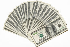 US dollars background. Made from lots of hundred bills Royalty Free Stock Image
