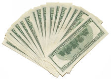 US dollars background. Made from lots of hundred bills Royalty Free Stock Images