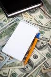 US dollars background Stock Photo