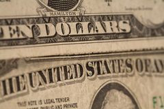 US dollars background, reto style toned photo with Stock Photography