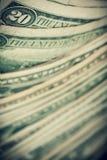 US dollars background, reto style toned photo with Stock Image