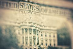 US dollars background, reto style toned photo with Royalty Free Stock Photos