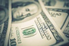 US-Dollars Banknoten-Nahaufnahme stockfoto