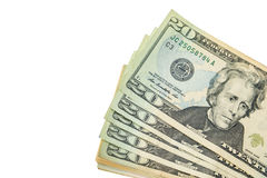 US-Dollars Bargeldstapel Lizenzfreies Stockbild