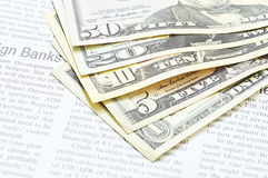 US dollars bill Royalty Free Stock Photos